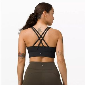Lululemon energy bra long line size 6 black